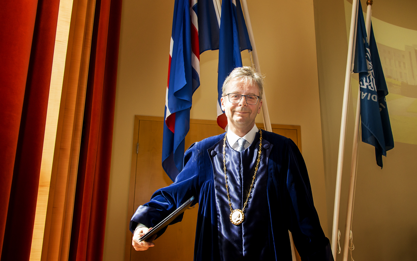 Jón Atli Benediktsson, Rector of the University of Iceland.