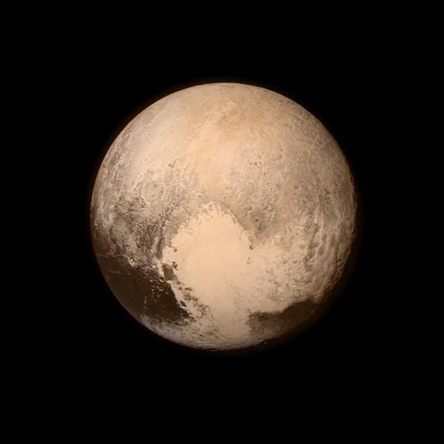 Mynd New Horizons af Plútó áður en framhjáflugið hófst. Hún …