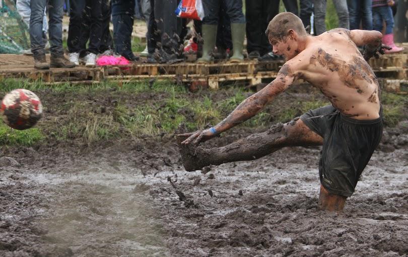 Mud ball is a messy affair.