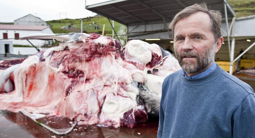 Kristján Loftsson, director of whaling company Hvalur hf.
