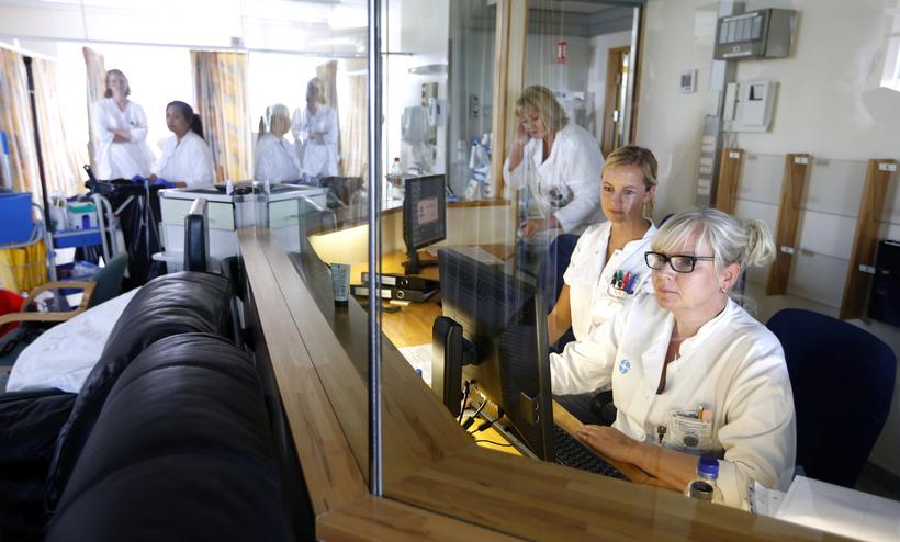 Nurses at Landspítali.