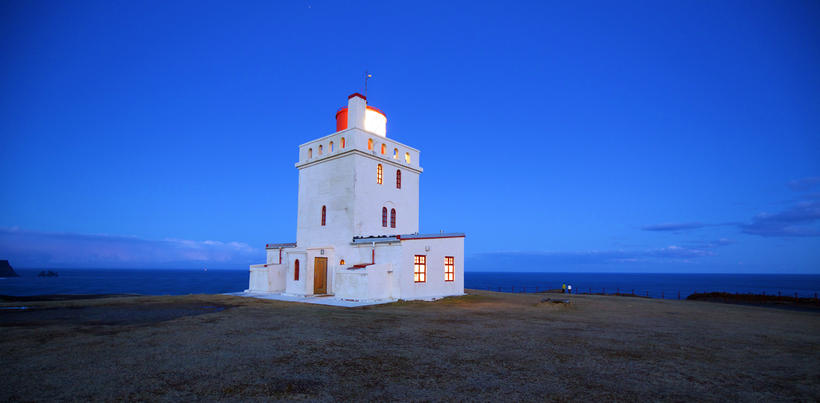 The Dyrhólaey lighthouse.
