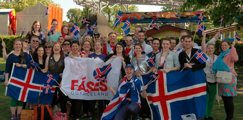 Members of the Icelandic Eurovision fan club at ESC 2013 …