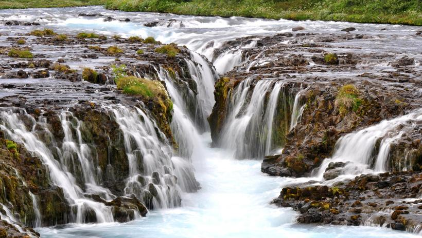 Bruarfoss, South Iceland. Feel the power of iceland's waterfalls!
