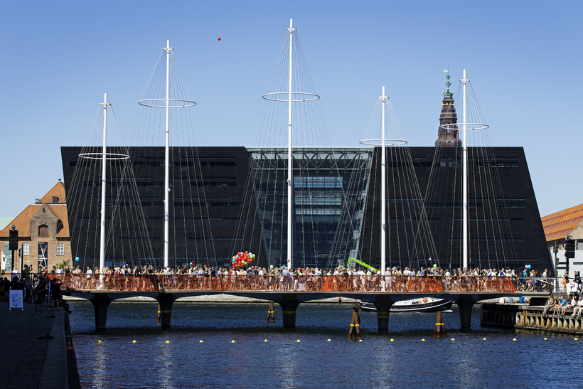 Copenhagen's new Cirkelbroen bridge.