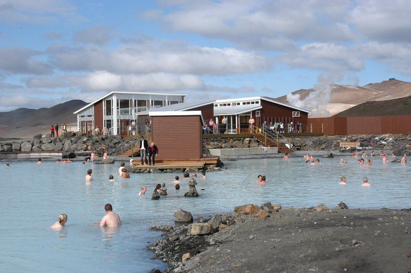 The nature baths in Mývatn are an increasingly popular tourist …