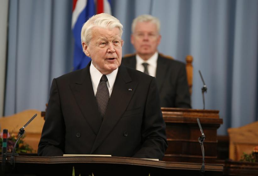 Einar K. Guðfinnsson, forseti Alþingis og Ólafur Ragnar Grímsson, forseti …