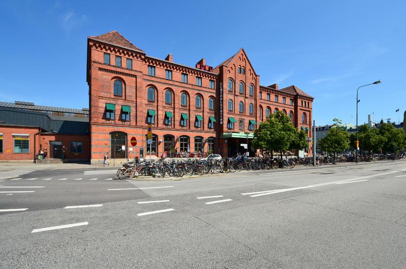 Frá aðalbrautarstöðinni í Malmö.