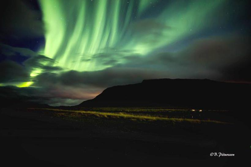The Northern Lights over Akrafjall.