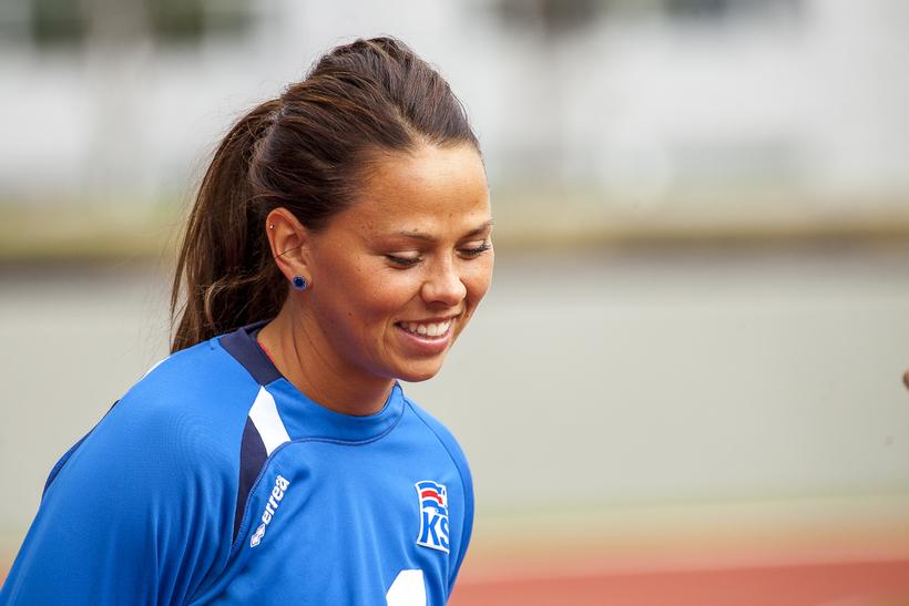 Iceland skipper Sara Björk Gunnarsdóttir.