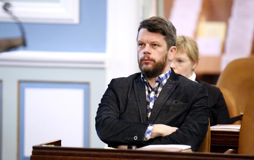 Guðmundur Steingrímsson alþingismaður.