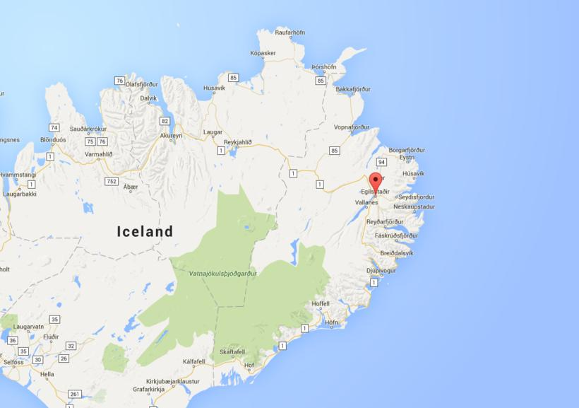 Egilsstaðir, in East Iceland.