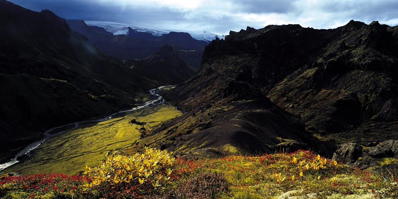 Þórsmörk park in Iceland.