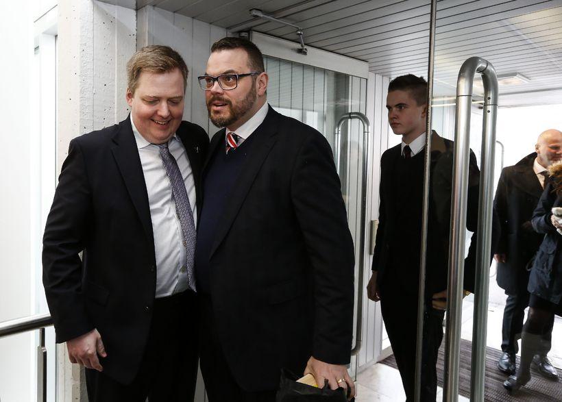 Sigmundur Davíð Gunnlaugsson og Björn Ingi Hrafnsson.