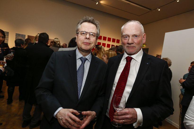 Már Guðmundsson og Hjálmar Jónsson.