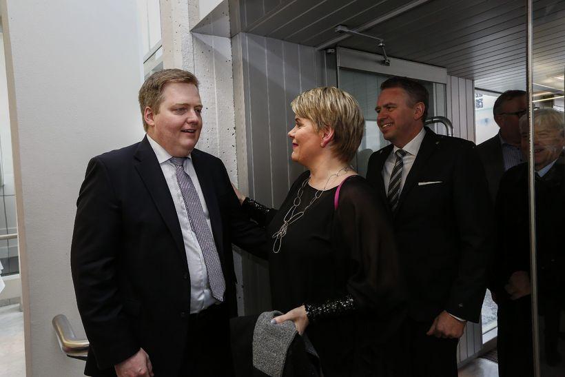 Ragnheiður Elín Árnadóttir lét sig ekki vanta.