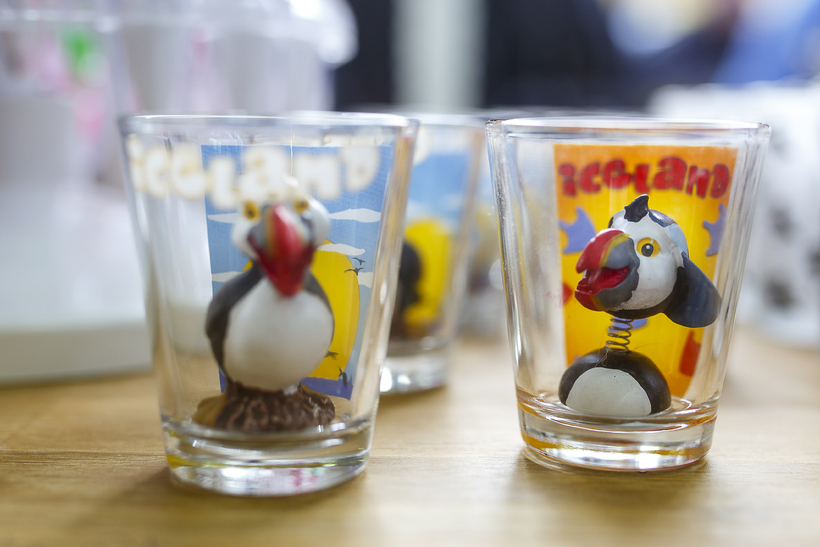 And a couple of puffin shot glasses.