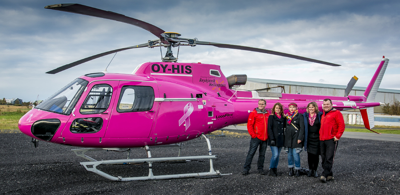 The Pink Ribbon Helicopter.