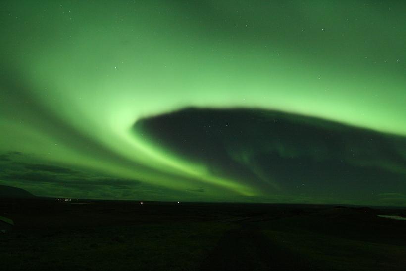Mirjam hafði bókað norðurljósaferð fyrir sig og dótturina.