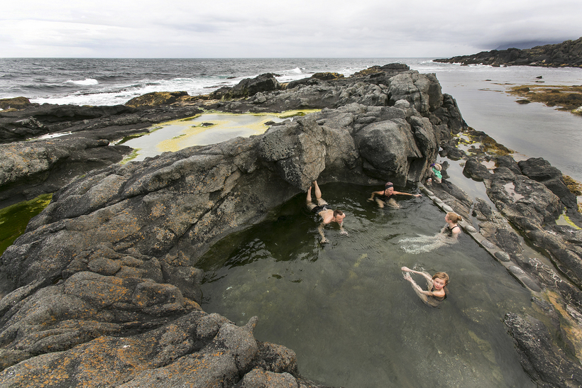This natural thermal pool by the sea is located in …