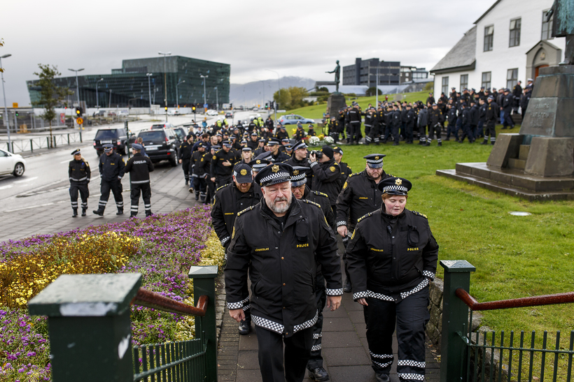 Police are unhappy about pay.