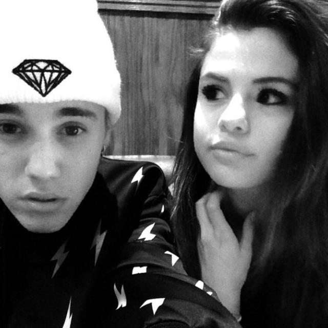 Justin Bieber og Selena Gomez.