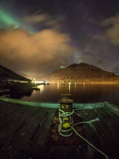 This photograph, shot on the same night in Seyðisfjörður, is …