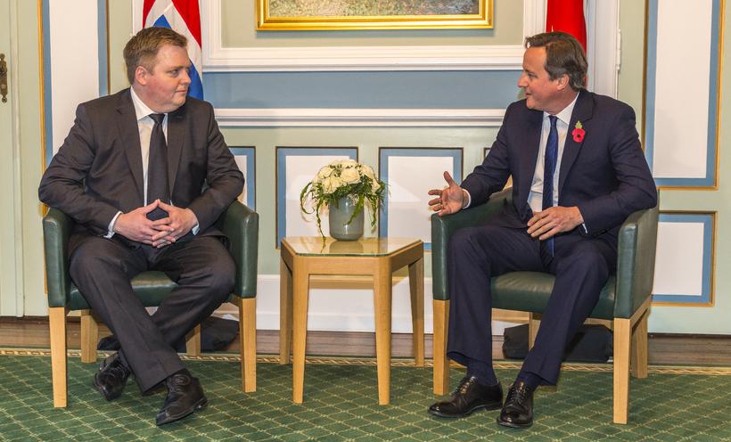 Cameron og Sigmundur Davíð í Alþingi