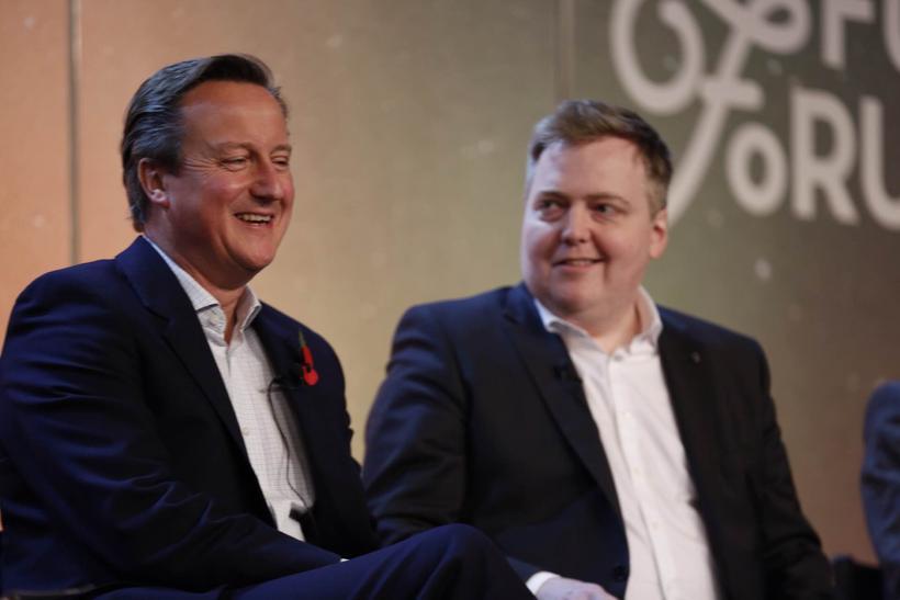 David Cameron og Sigmundur Davíð Gunnlaugsson.