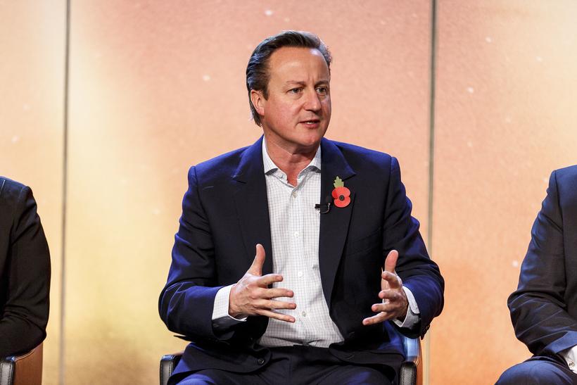 David Cameron ræddi við Bjarna í morgun.