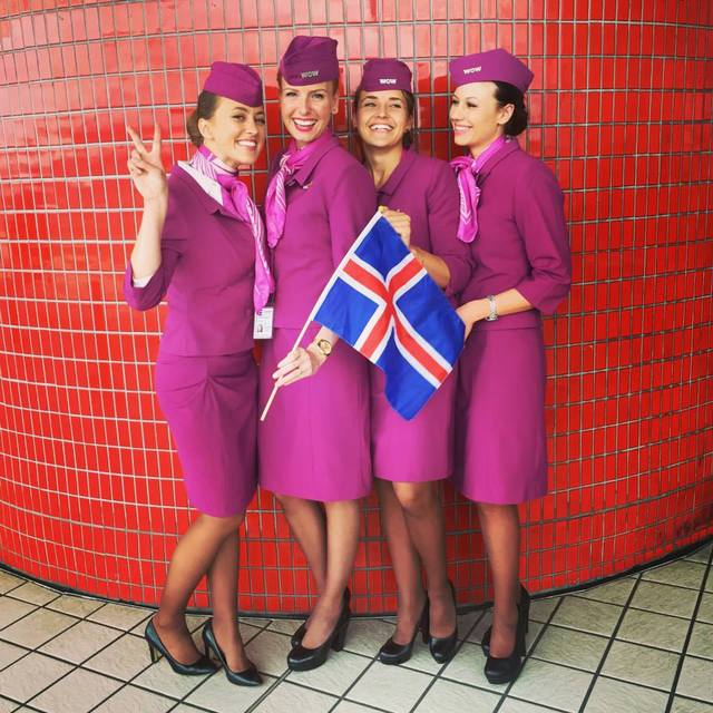 WOW air hostesses in 2015.