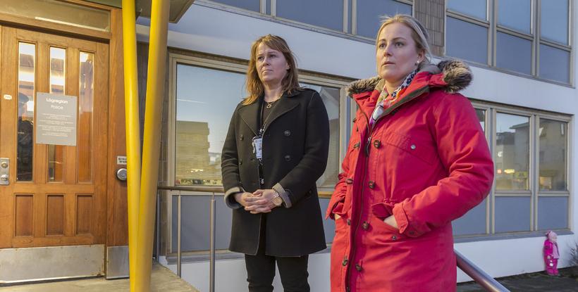 Sigríður Björk Guðjónsdóttir lögreglustjóri og Alda Hrönn Jóhannsdóttir, yfirlögfræðingur lögreglunnar ...