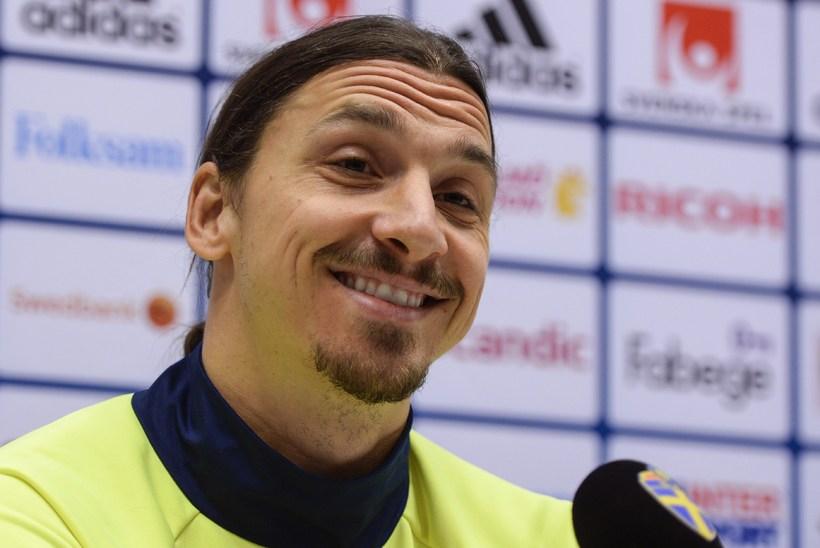Zlatan Ibrahimovic er alltaf léttur.