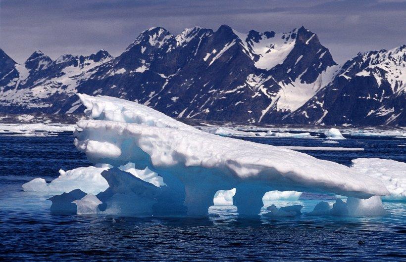 An iceberg in Greenland.
