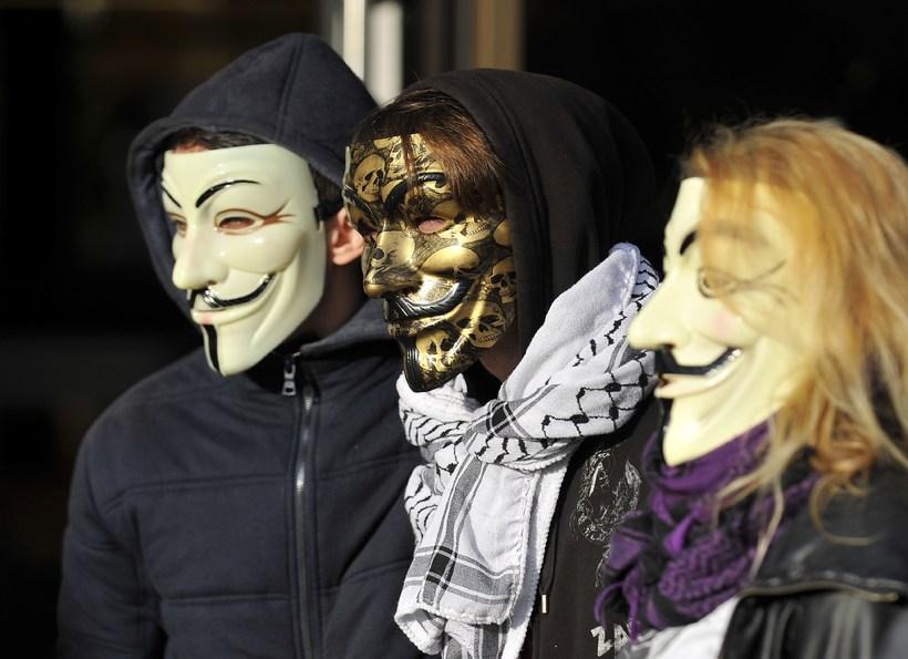 Aðalsmerki Anonymous samtakanna er Guy Fawks gríman.