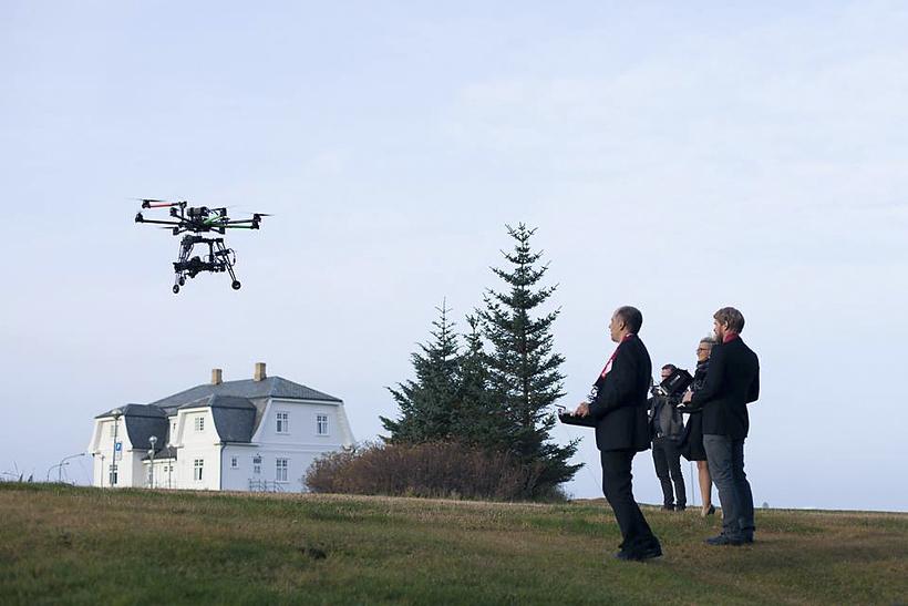 Dróni við Höfða.