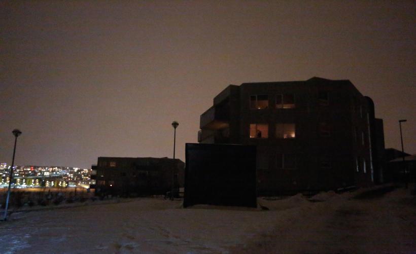 The power is off at Úlfarsfellsland, Reykjavik.