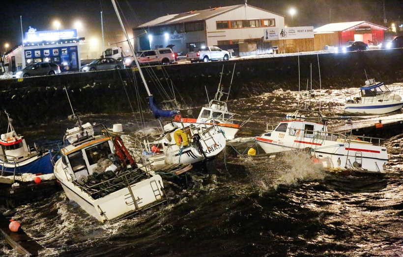 The boats in Reykjavik harbour are at the mercy of ...