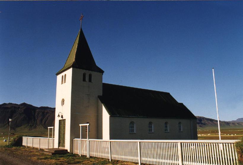 Staðastaðarkirkja á Snæfellsnesi.