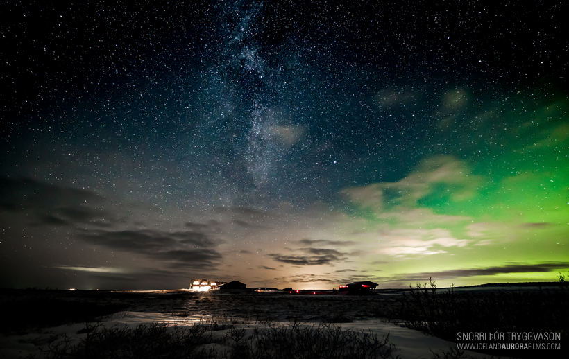 The Northern Lights above Hótel Rangá. The hotel has great ...