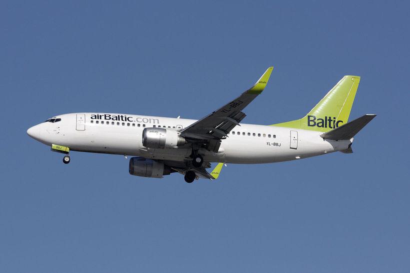 Flugvél airBaltic.