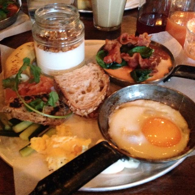 The brunch taster menu: a mouth-watering selection that includes smoked …