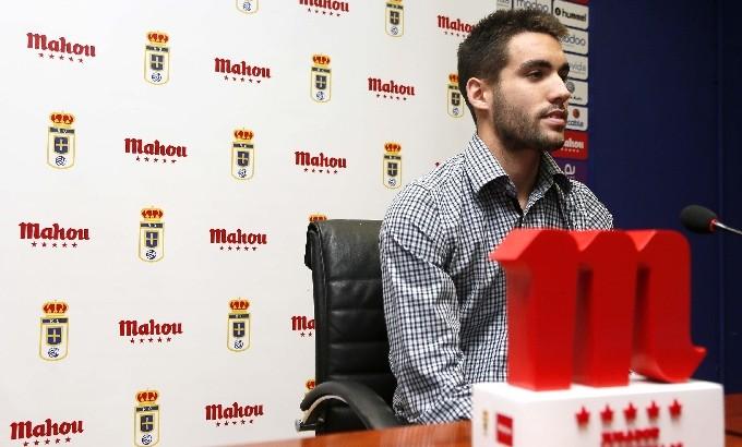 Diego Jóhannesson á fréttamannafundi eftir leik.