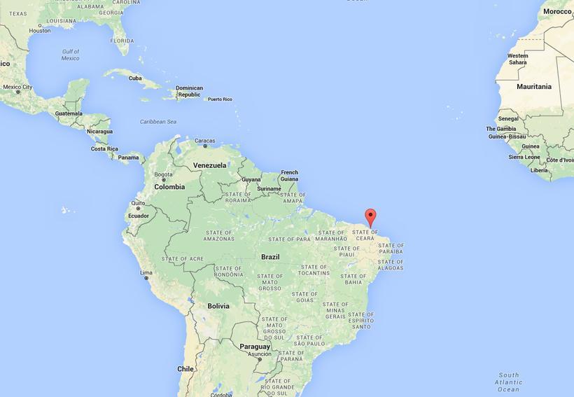 Fólkið var handtekið í Fortaleza í Brasilíu á milli jóla ...