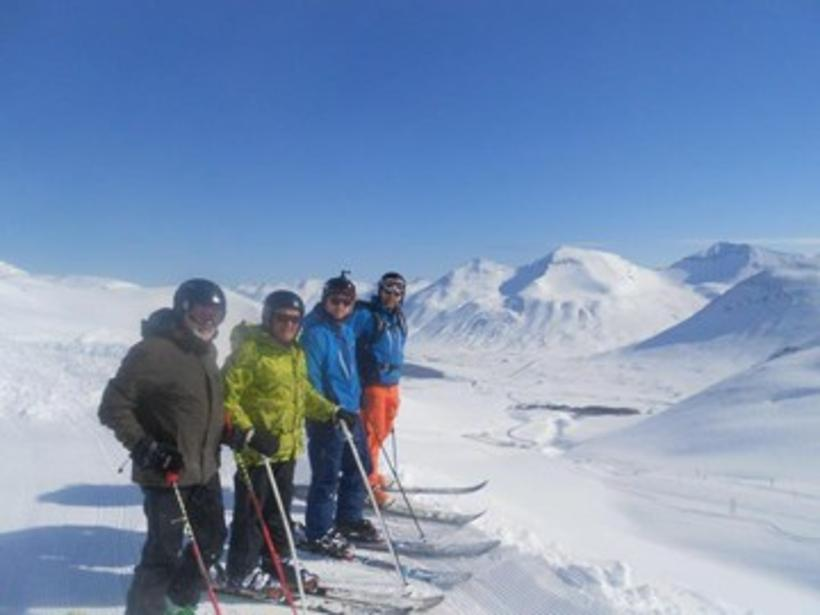 Skiing areas are open in many parts of Iceland today. ...