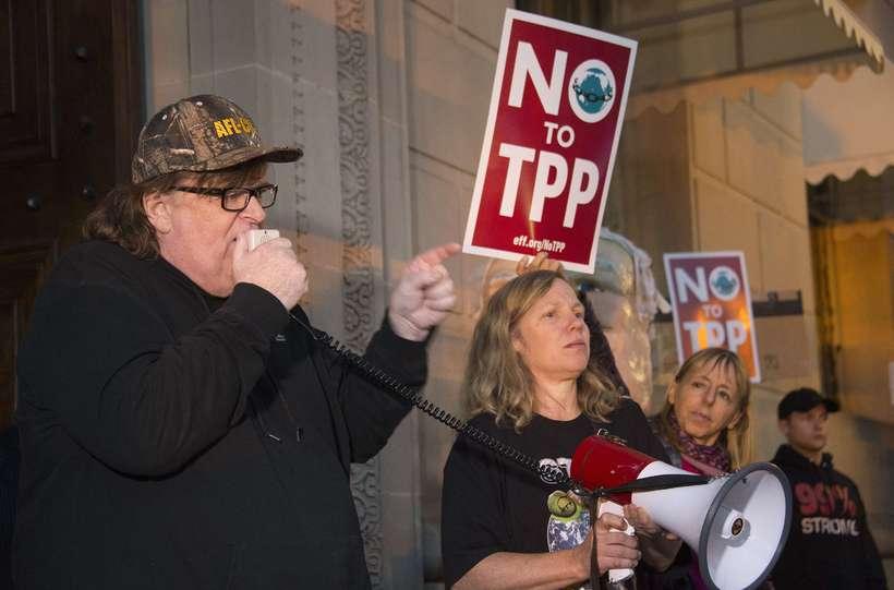Michael Moore er þekktur heimildamyndagerðarmaður.