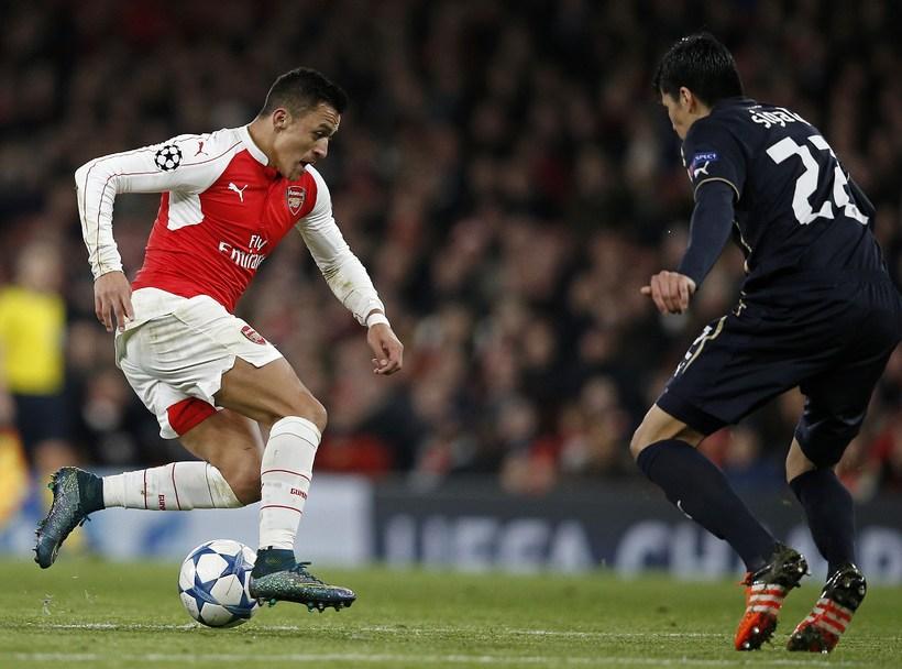 Alexis Sánchez í leik með Arsenal.