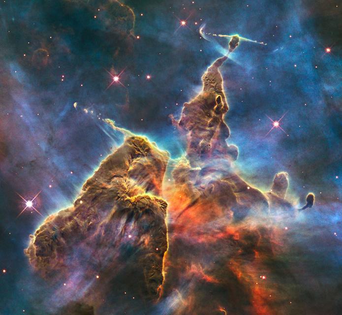 Hubble-sjónaukinn tók þessa mynd í tilefni af 20 ára afmæli ...