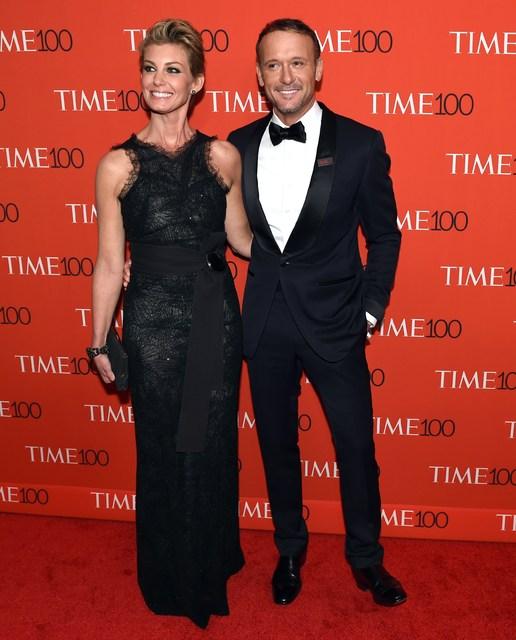 Sveitasöngkonan Faith Hill og Tim McGraw.