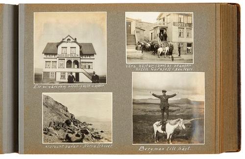 Albúm með ljósmyndum úr Íslandsferð 5 Svía 1919. Sten Bergman …